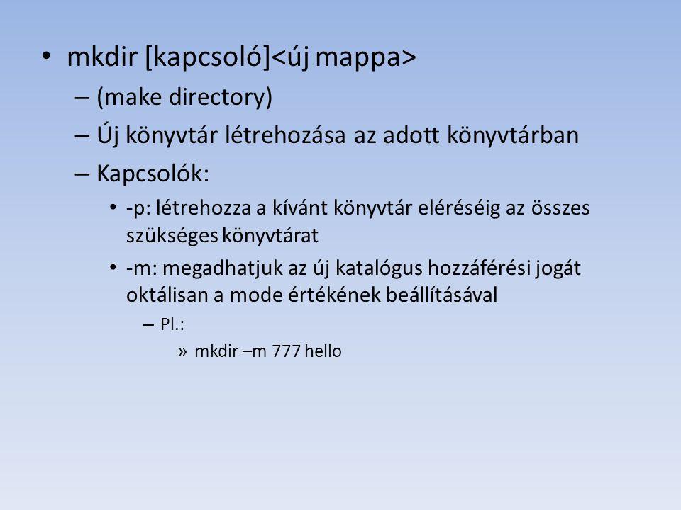 mkdir [kapcsoló]<új mappa>